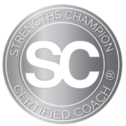 Strengths Champion Certified Coach Seal